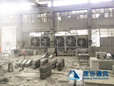 武汉石材雕刻厂镀锌板负压风机车间除尘设备工程