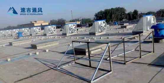 混泥土厂房安装屋顶风机用于发电厂高温车间无锡宜兴公司