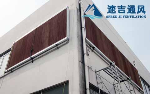 苏州电器厂安装水帘风机15公分水帘墙降温系统