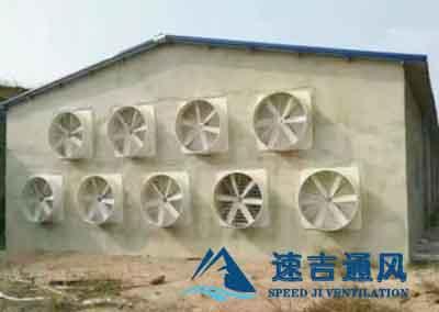 养锗厂客户介绍的负压风机_玻璃钢风机噪音小