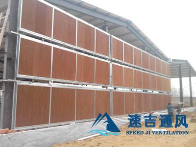 大棚种植专用水帘风机通风降温湿帘纸及水帘墙系统